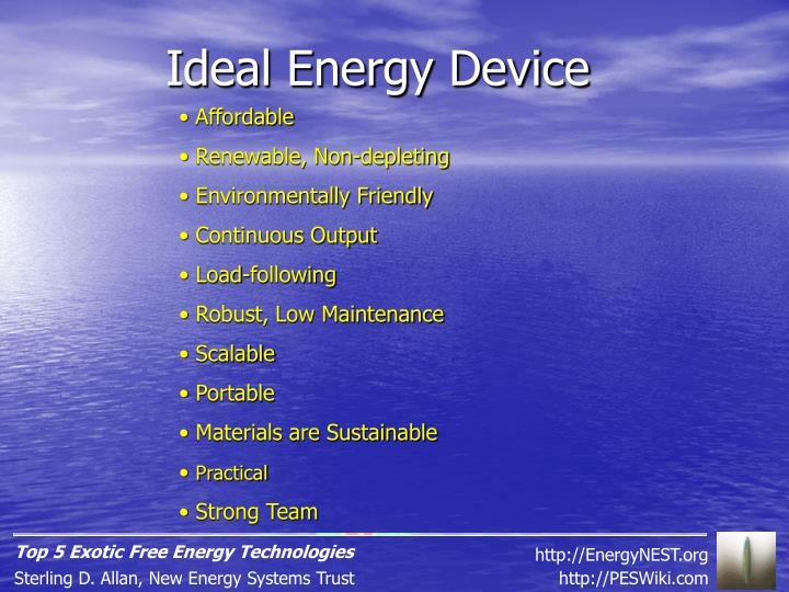 Ideal Energy Device