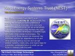 new energy systems trust nest
