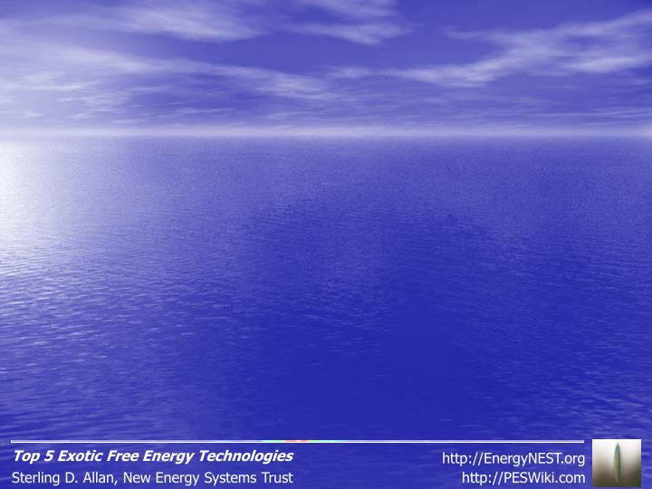 Top 5 Exotic Free Energy Technologies
