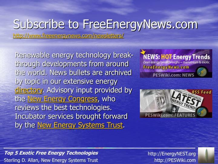 Subscribe to FreeEnergyNews.com