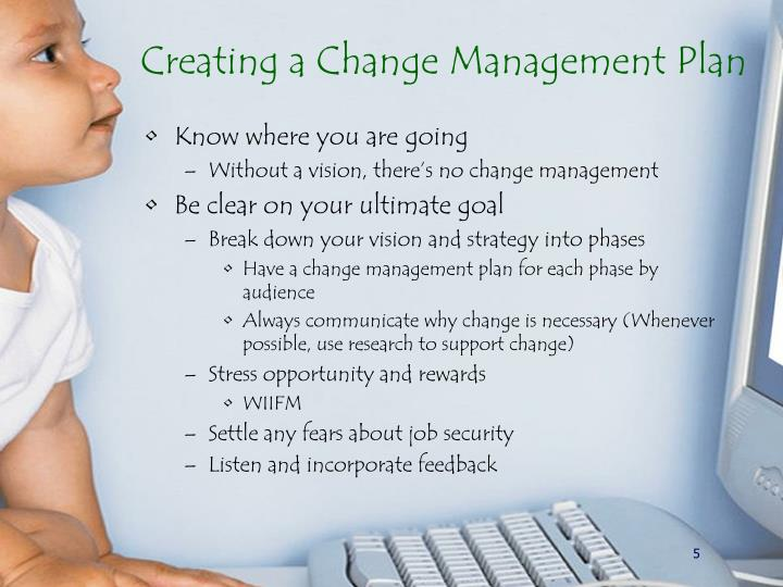 Creating a Change Management Plan