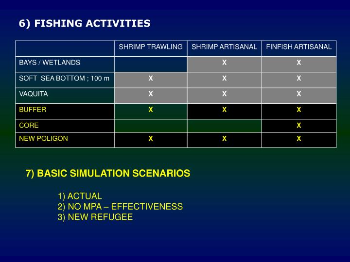 7) BASIC SIMULATION SCENARIOS