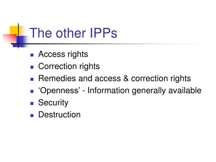 The other ipps