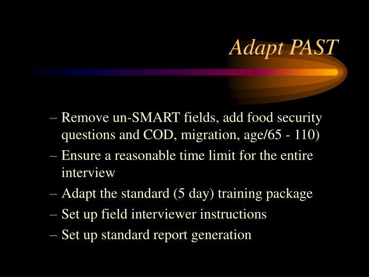 Adapt PAST