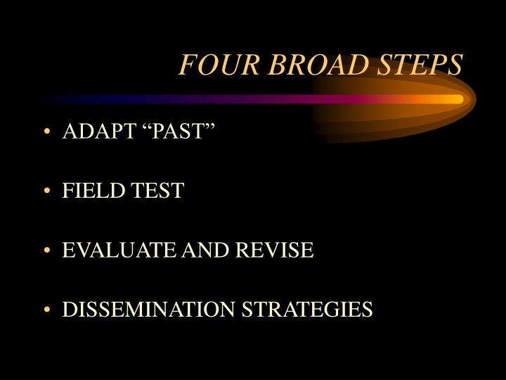Four broad steps