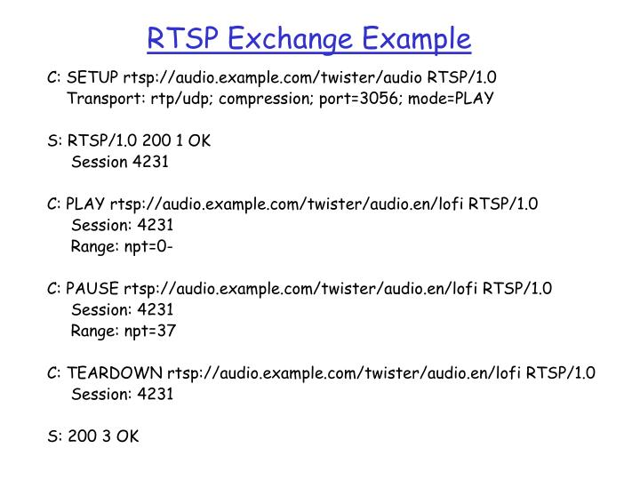 RTSP Exchange Example