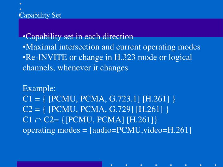Capability Set