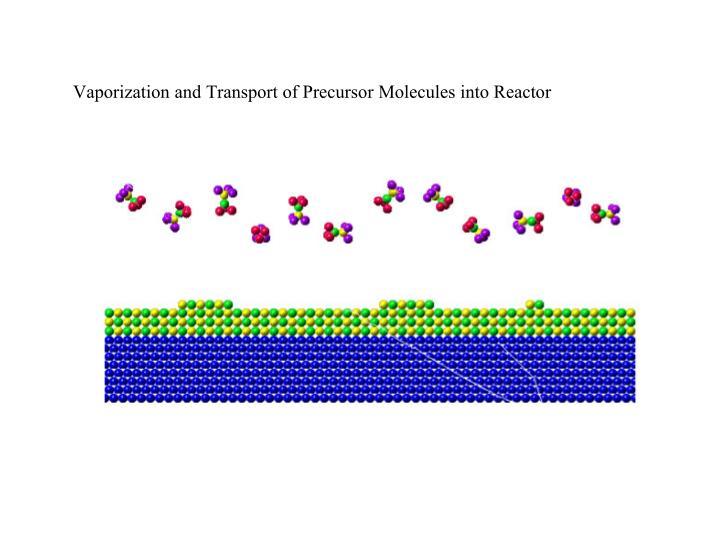 Vaporization and Transport of Precursor Molecules into Reactor