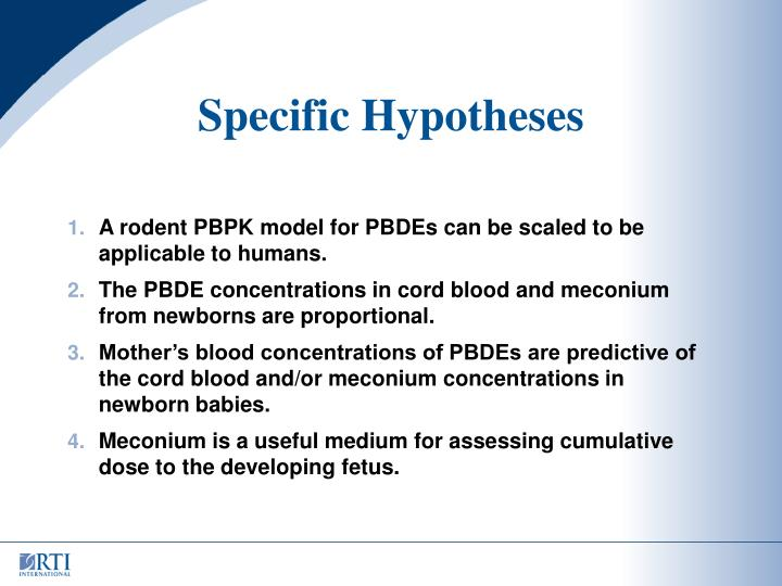 Specific Hypotheses