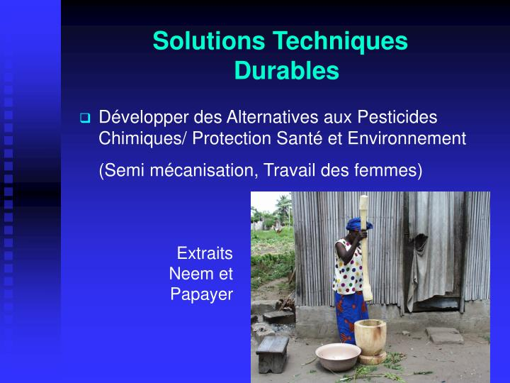 Solutions Techniques Durables