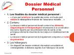 dossier m dical personnel