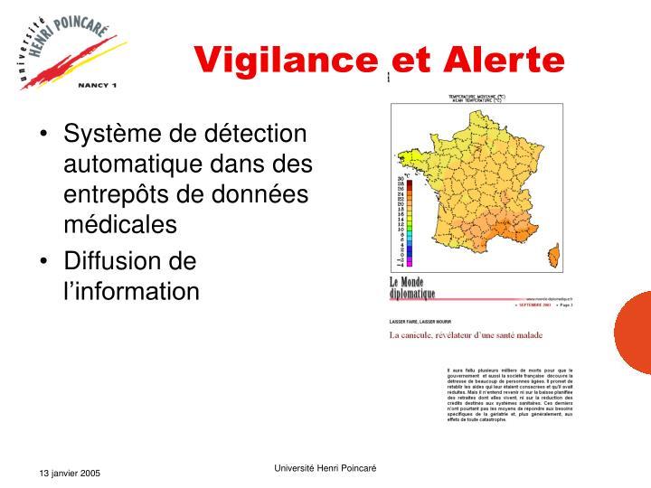 Vigilance et Alerte