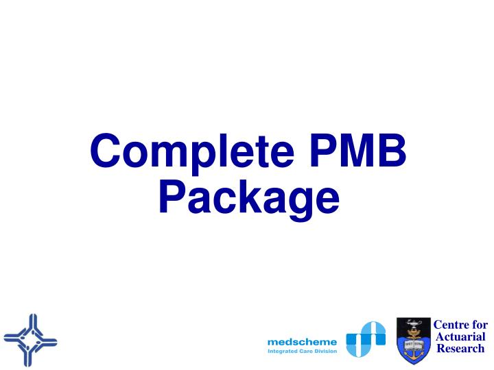 Complete PMB Package