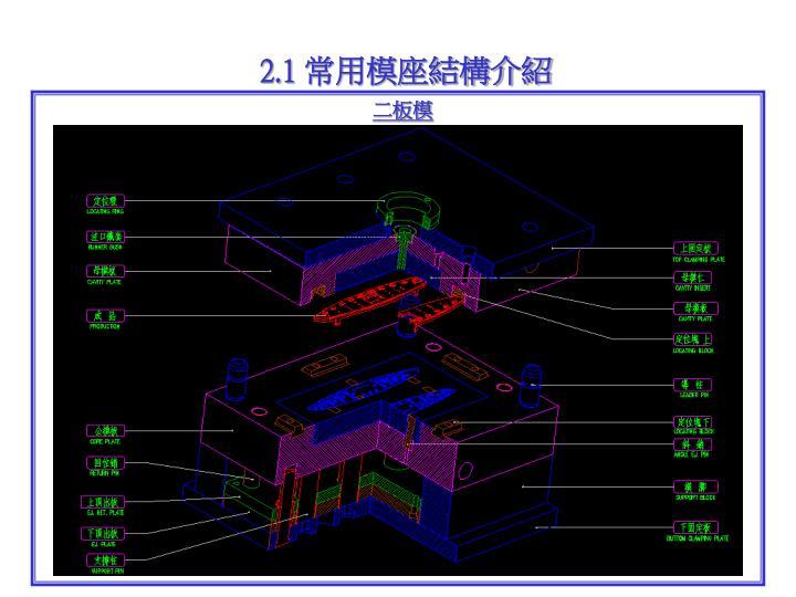 2.1 常用模座結構介紹