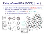 pattern based dfa p dfa cont1