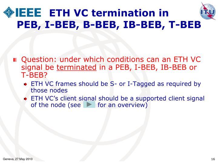 ETH VC termination in