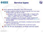 service types