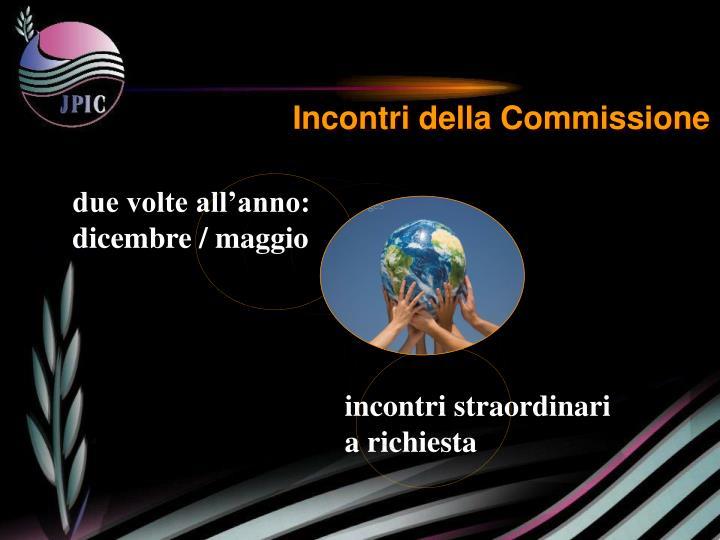 Incontri della Commissione