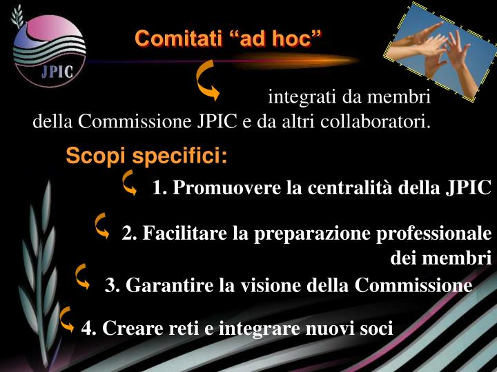 """Comitati """"ad hoc"""""""