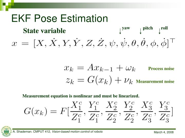 EKF Pose Estimation