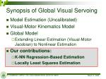 synopsis of global visual servoing