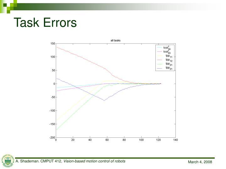 Task Errors