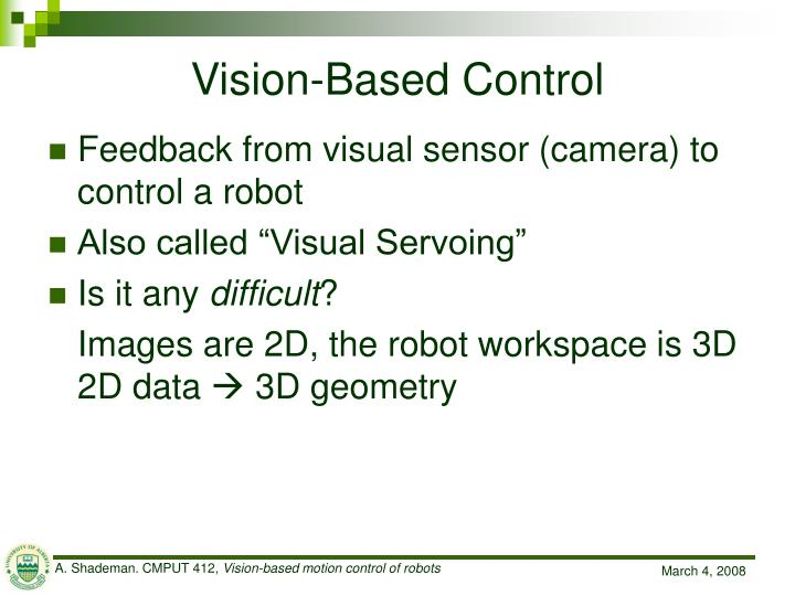 Vision-Based Control
