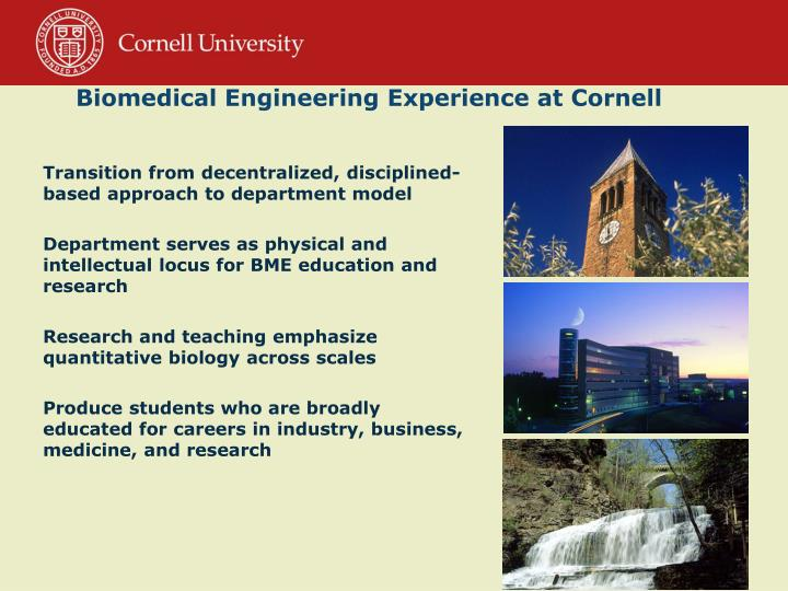 Biomedical Engineering Experience at Cornell