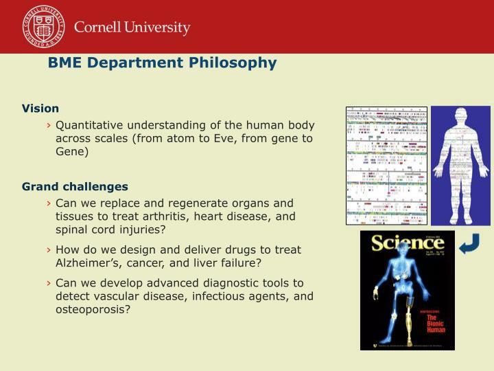 BME Department Philosophy