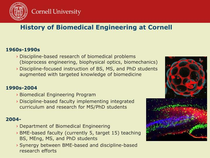 History of Biomedical Engineering at Cornell