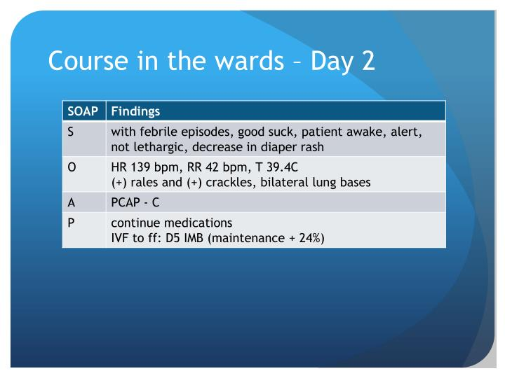 Course in the wards – Day 2