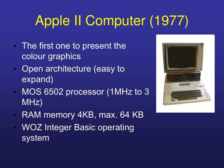Apple II Computer (1977)