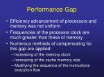 performance gap