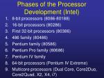 phases of the pr ocessor d evelopment intel