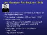 von neumann architecture 1945