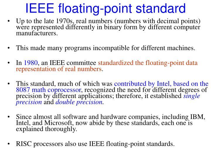 IEEE floating-point standard
