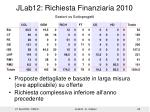 jlab12 richiesta finanziaria 20101