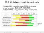 sbs collaborazione internazionale