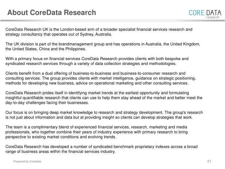 About CoreData Research