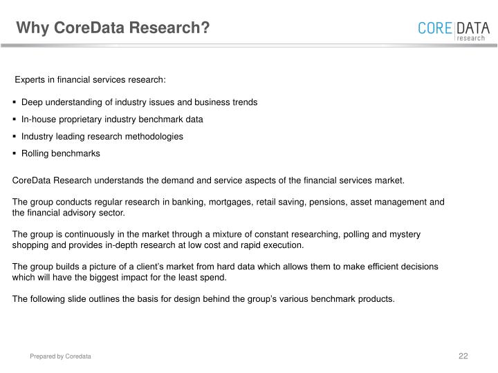 Why CoreData Research?
