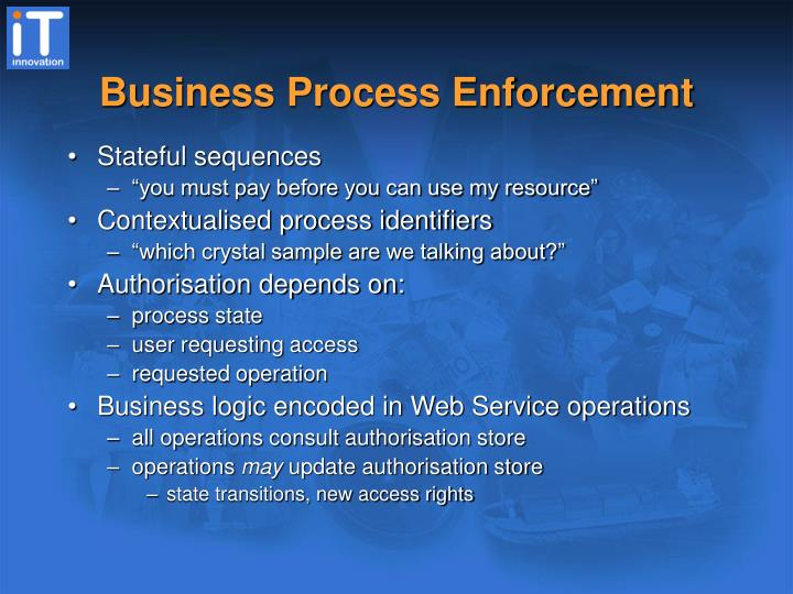 Business Process Enforcement