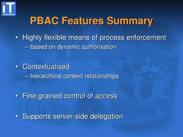 PBAC Features Summary