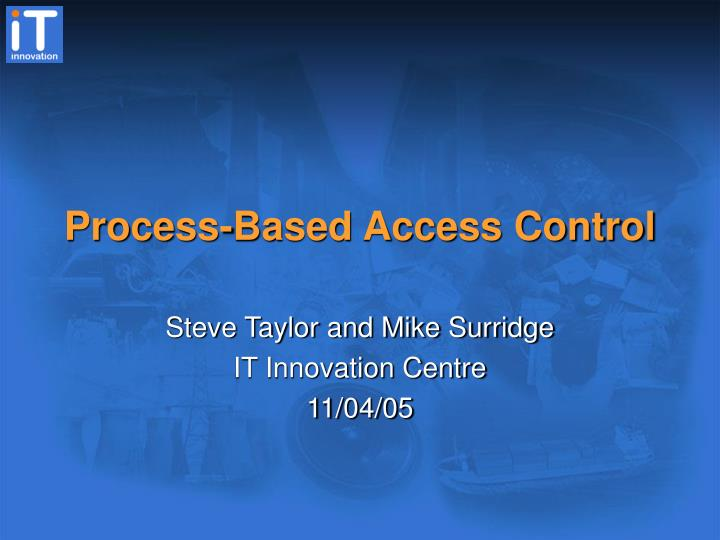Process based access control