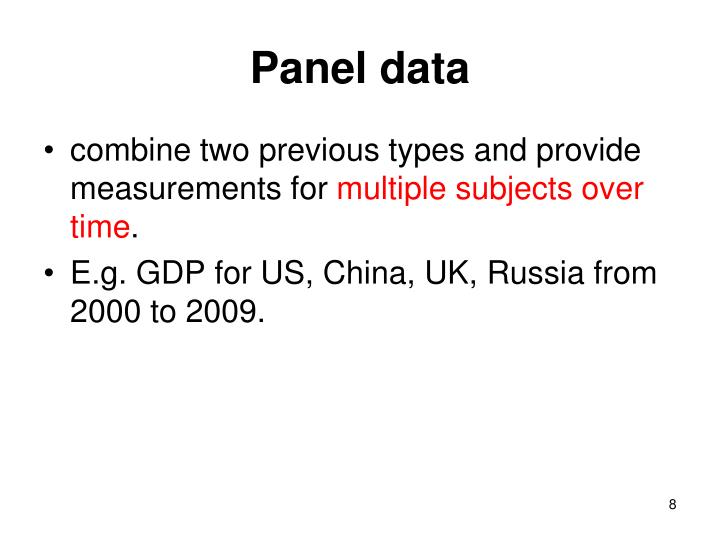Panel data