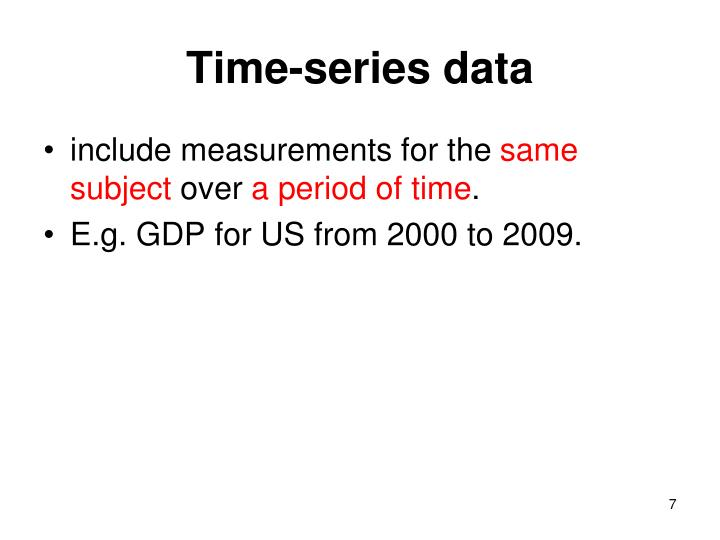 Time-series data