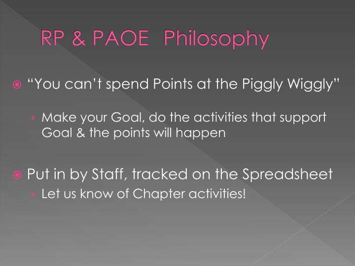 RP & PAOE Philosophy