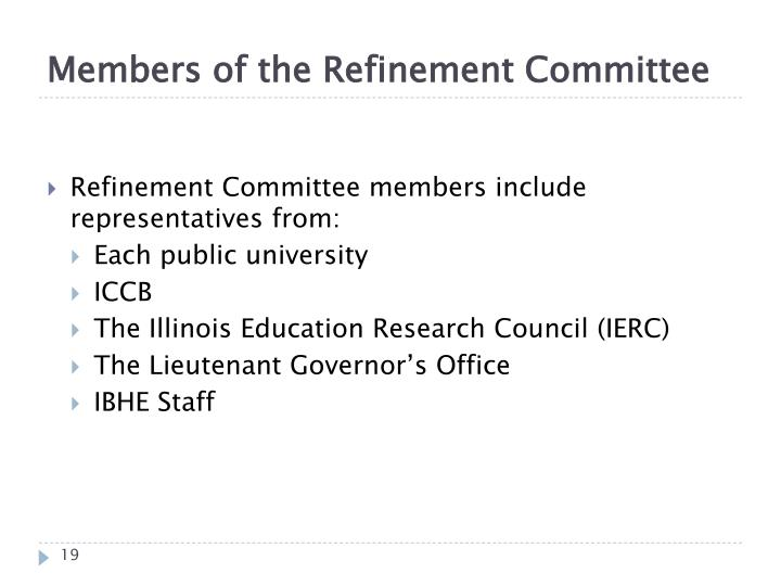 Members of the Refinement Committee