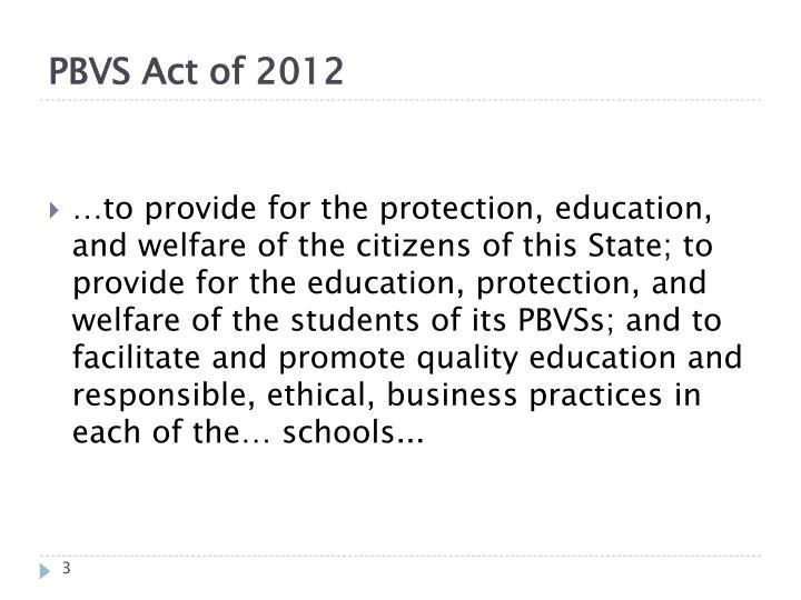 PBVS Act of 2012