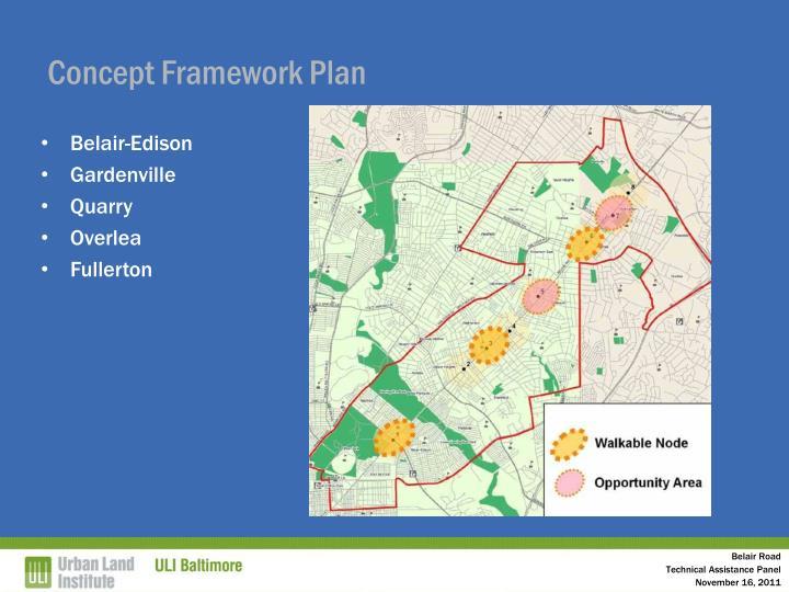 Concept Framework Plan