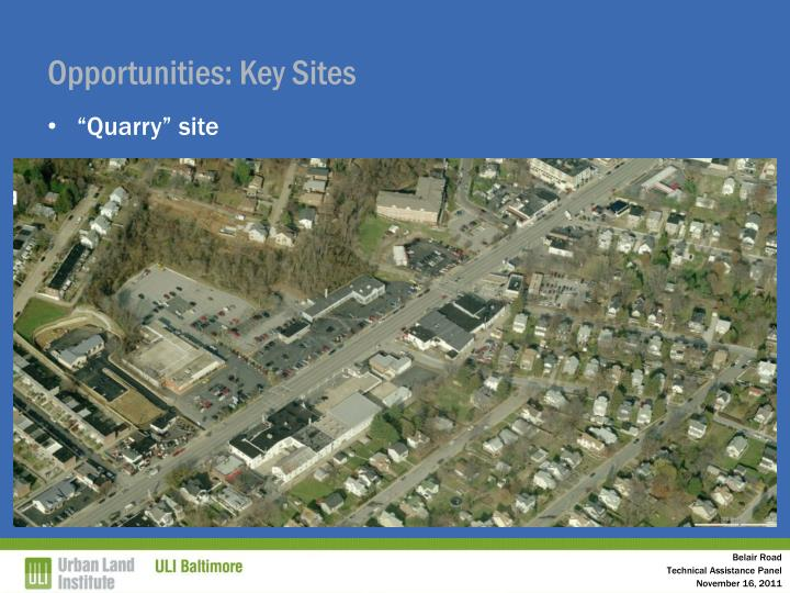 Opportunities: Key Sites